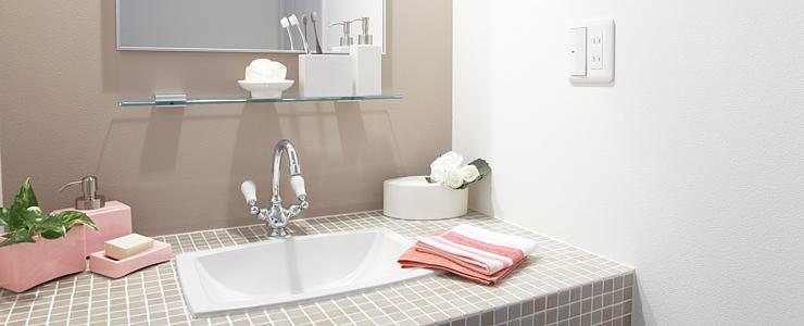 大阪の洗面所、洗面台クリーニング